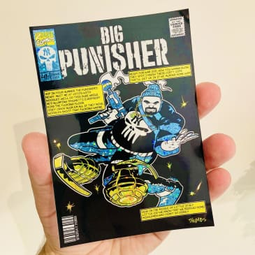 Minerva - Big punisher Glitter sticker