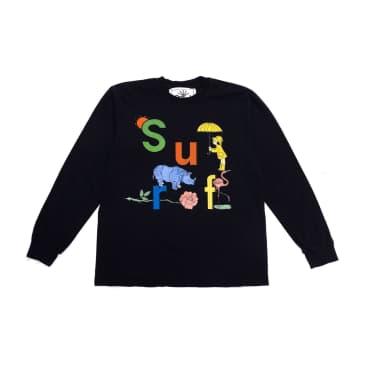 Surf Is Dead Rainy Daze L/S T-Shirt (Black)