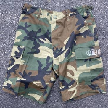 Kinetic Better Living Oval Cargo Shorts (Woodland Camo)