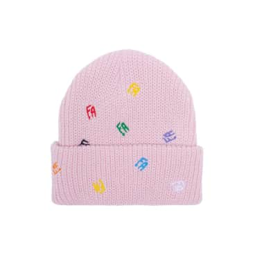 Fucking Awesome Scattered FA Cuff Beanie - Light Pink