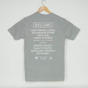 Welcome Skate Store - No Drama T-Shirt - Sports Grey