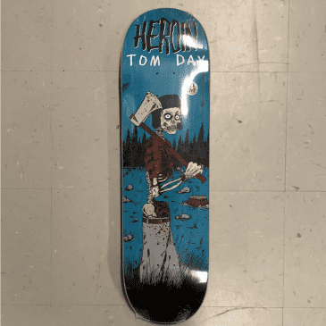 Heroin Skateboards Razor Edge Tom Day Woodsman Deck 8.75