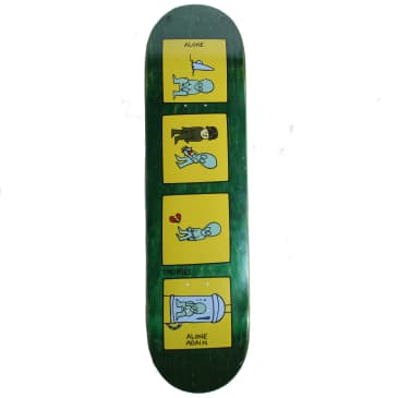 """Theories of Atlantis, Alone Again deck, Green Stain - 8.25"""""""