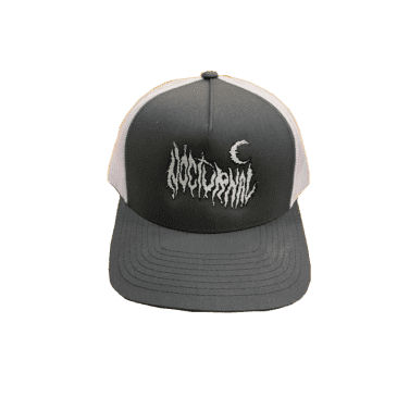 Nocturnal Metal Logo Trucker Cap (Grey/White)