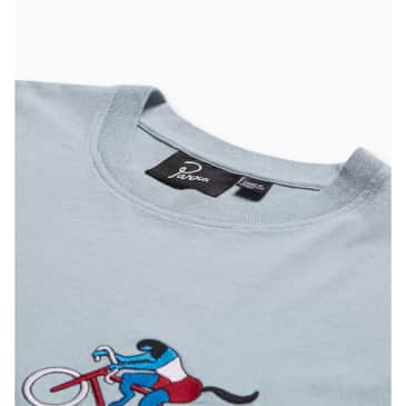 by Parra The Chase T-Shirt - Dusty Blue