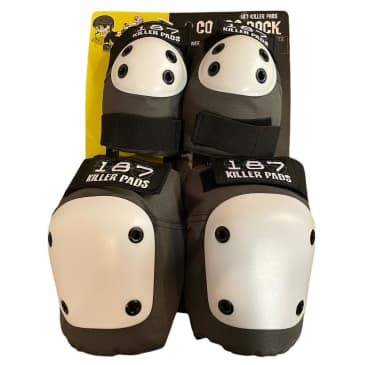 187 Knee Elbow Pads Combo Pack Grey