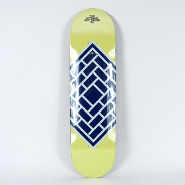 """The National Skateboard Co. - 8.375"""" Classic Cream Deck (High Concave)"""