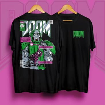 Minerva Dr Doom T-Shirt - Black