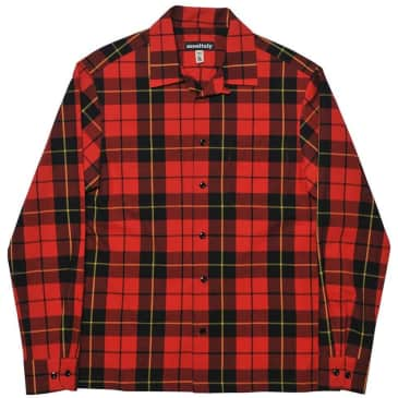 Monitaly Vacation Shirt - Stewart Tartan Red