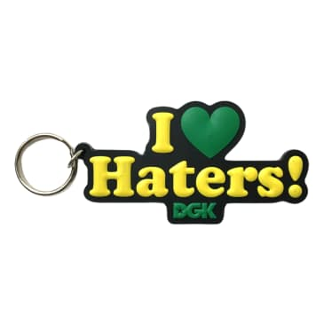 DGK I Love Haters Keychain Black/Yellow