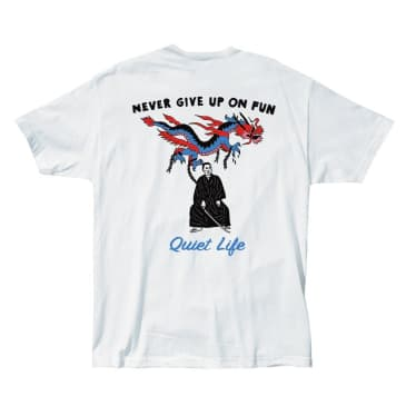 QUIET LIFE Never Give Up Tee White