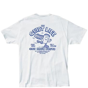 The Quiet Life One Hour Photo T-Shirt - White / Blue