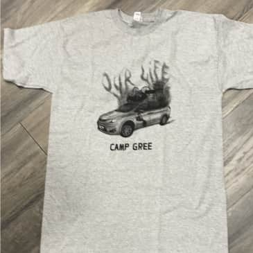 Our life Camp Tee grey