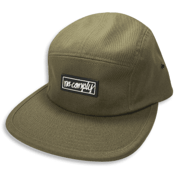 No-Comply Script Box Patch 5 Panel Hat Olive