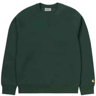 Carhartt WIP Chase Sweatshirt - Treehouse / Gold