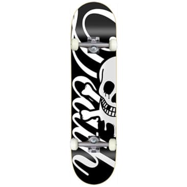 Death Skateboards Script Black Complete Skateboard 7.75""