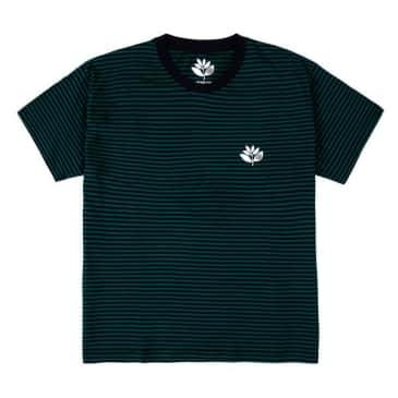 Magenta Striped Plant T-Shirt - Navy/Green