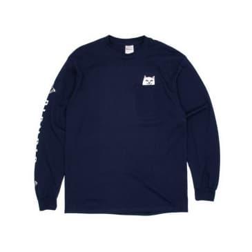 Rip N Dip Lord Nermal Pocket Longsleeve T-Shirt - Navy