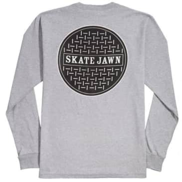 OJ SKATE JAWN L/S TEE - HEATHER GREY