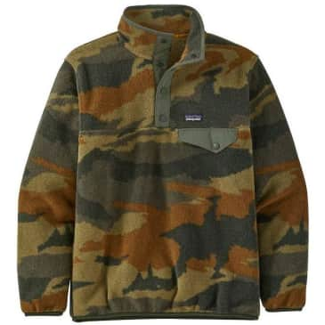 Patagonia Boys' Lightweight Synchilla Snap-T Fleece Pullover - Kelp Forest