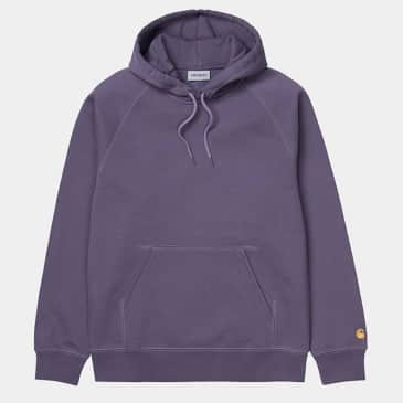 Carhartt WIP Hooded Chase Sweat - Provence / Gold