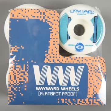Wayward 'Diego Najera Funnel Pro' 52mm 101a Wheels (White / Blue)
