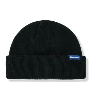 Butter Goods Wharfie Beanie - Black / Blue Label