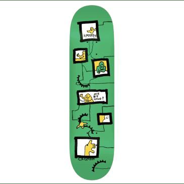 """Krooked Skateboards Deck Cromer Frames Green 8.125"""""""