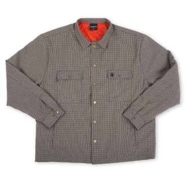 Theories - Lantern Shirt Jacket Clay/Orange Check Medium