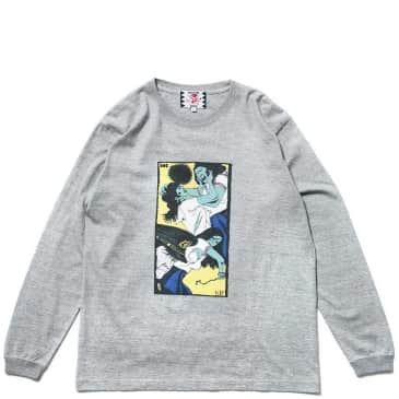 Son Of The Cheese Face Long Sleeve T-Shirt - Grey