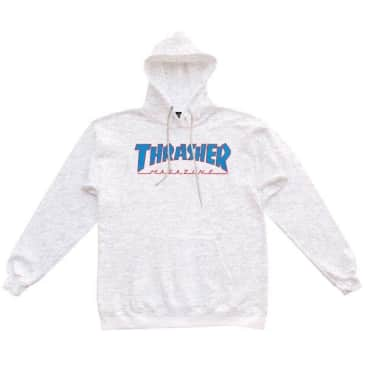 THRASHER OUTLINED HOODIE - ASH GRAY