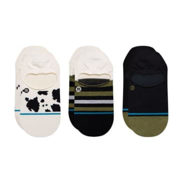 Stance Cow Fuzz No Show 3 Pack
