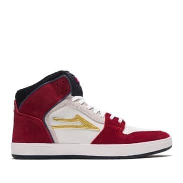 Lakai Telford Suede Skate Shoes - Red / Navy