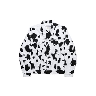Monitaly Trucker Jacket - Cow Print