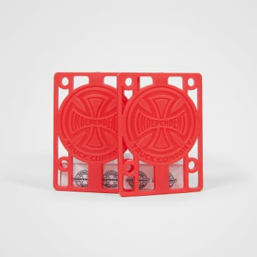 "Independent - 1/8"" Indy Riser Pads - Red"