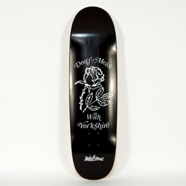 "Welcome Skate Store - 8.75"" Rugby Ball Shape DMWY Skateboard Deck (Black)"