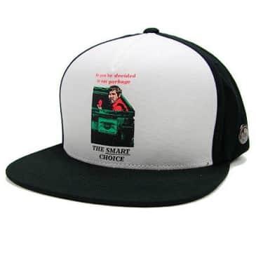 VANS X ANTI-HERO SMART CHOICE SNAPBACK HAT - WHITE BLACK