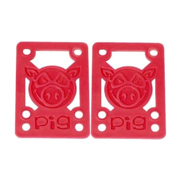 """Pig Piles 1/8"""" Hard Risers Red"""