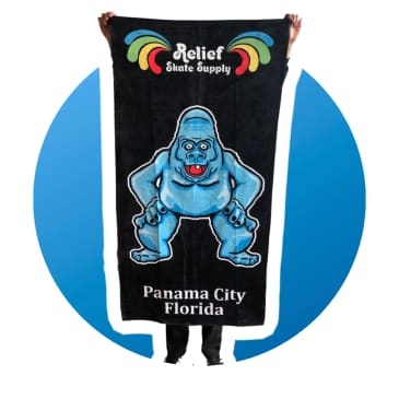 Relief Abominable Snowman Towel