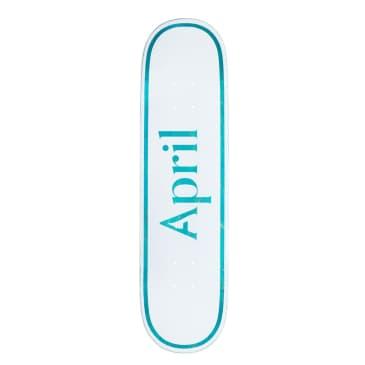 """April OG Logo Skateboard Deck Blue - 8.25"""""""