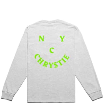 Chrystie NYC Smile Logo Long Sleeve T-Shirt - Ash Grey