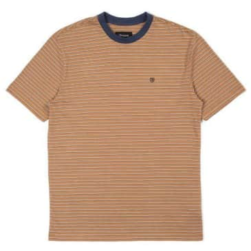 Brixton - Hilt S/S Knit Shirt - Coconut / Washed Navy / White