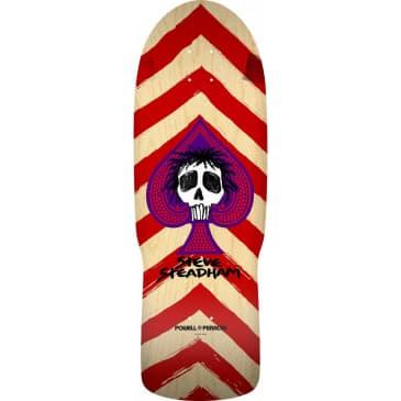 "Powell Peralta Steadham Spade Skateboard Deck Natural/Red - 10"""