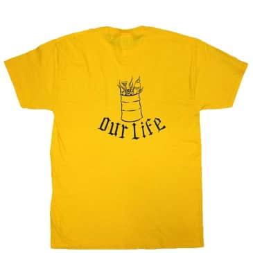 Our Life Lindig Barrel T-Shirt - Yellow