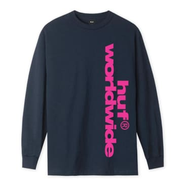 HUF Untitled L/S T-Shirt French Navy