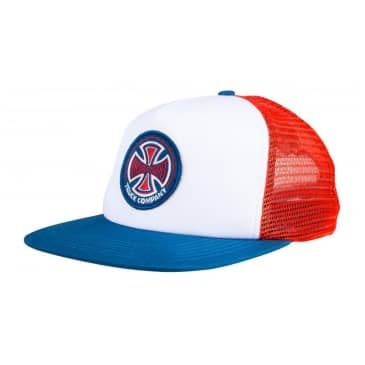 Independent - 78 Cross Mesh Cap - Red / White / Blue