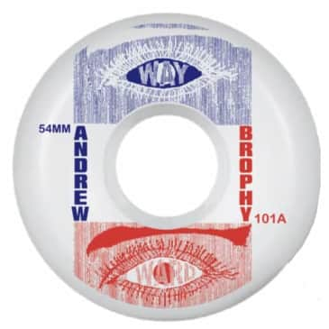 Wayward Classic Wheels - Andrew Brophy 54mm (White/Blue Red)