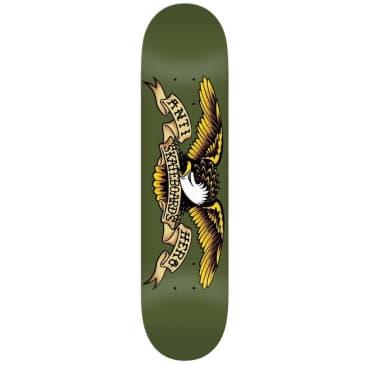 "Anti Hero Classic Eagle Skateboard Deck Olive - 8.38"""