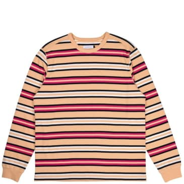 Pop Trading Co Striped Long Sleeve T-Shirt - Multicolor