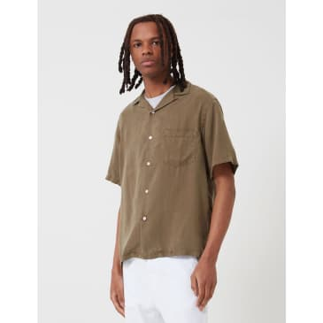Potuguese Flannel Dogtown Shirt - Olive Green